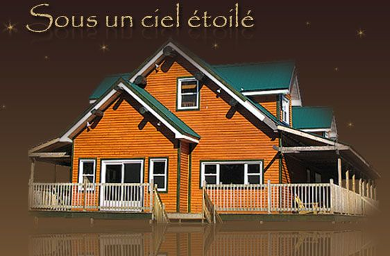 Tree houses, cottages, chalets in Woburn, Quebec, Canada. Located near Mont-Mégantic National Park.