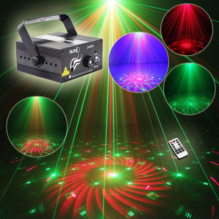 40 Patterns Rg Blue Led Mini Lazer Disco Dance Light Ir