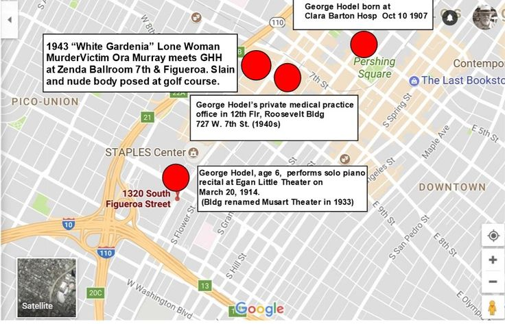 Child Musical Prodigy George Hodel Performs at LA Egan/Little Theater in 1914 at age 6-DTLA Map Showing Locations He Practiced Music, Medicine and Murder - Steve Hodel