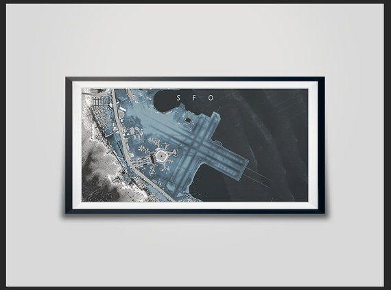 SFO Measurement Map SFO Airport Map LiDAR Map San by Artalytics