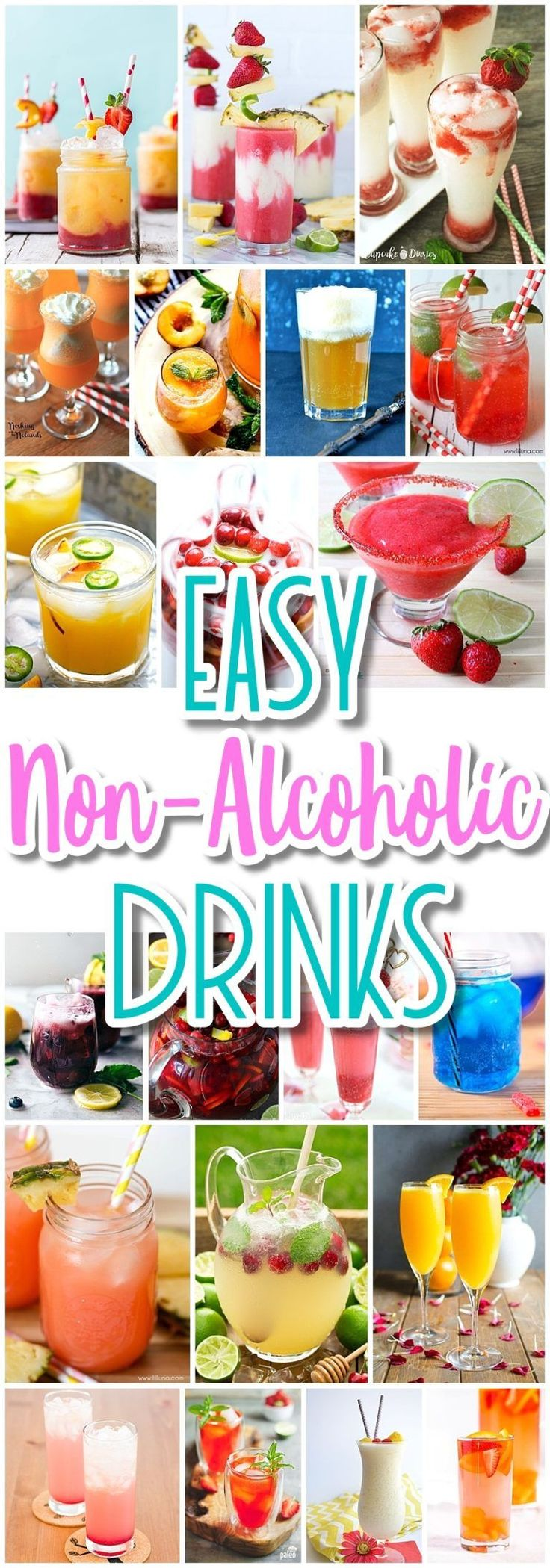 The BEST Easy Non-Alcoholic Drinks Recipes - Creative Mocktails and Family Friendly, Alcohol-Free, Big Batch Party Beverages for a Crowd! - Dreaming in DIY  #virgindrinks #familyfriendlydrinks #nonalcoholicdrinks #alcoholfreedrinks #partydrinks