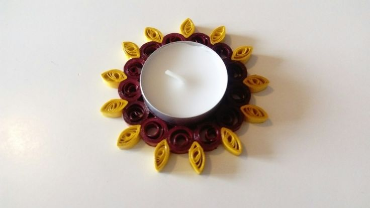 Quilling waxinelichthouder