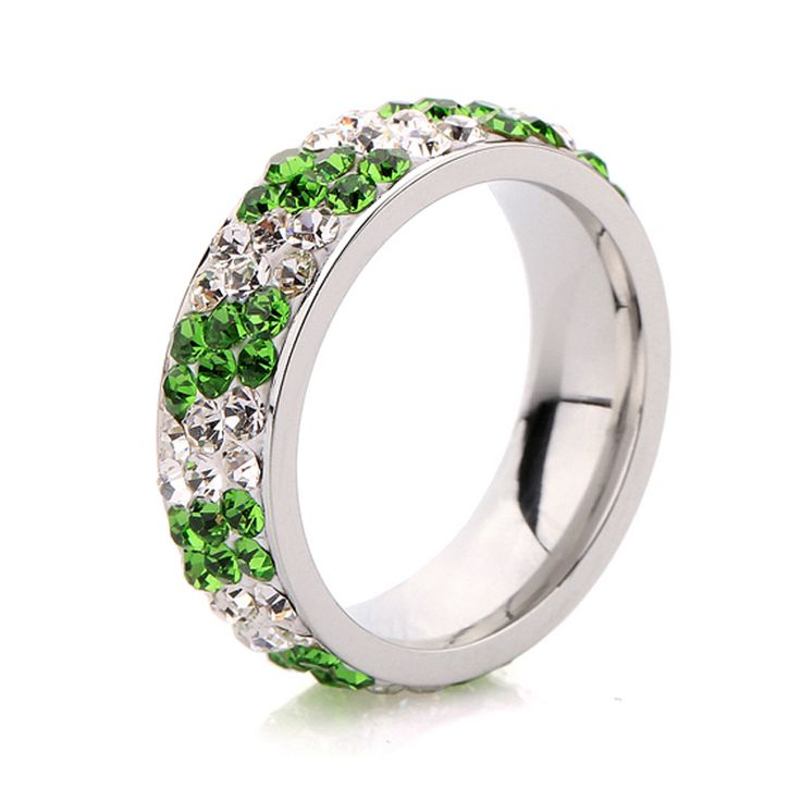 Cubic Zirconia Cluster Statement Dome Rings White Gold Plated Jewelry for Women PJ4297 Uloveido Disco Ball Design Party Rings