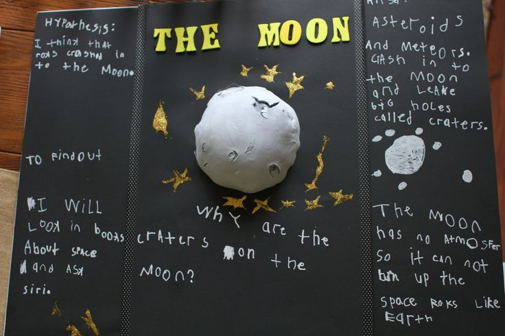 """This simple science experiment answers the question, """"Why are there craters on the moon?"""" This also makes a great science fair project for children."""