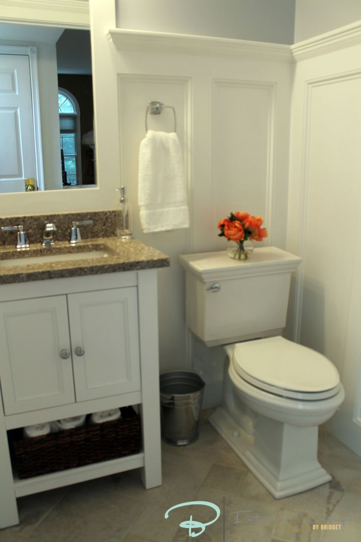 Cottage style half bath by interior designs by bridget massachusetts bathroom ideas Interior design half bathroom