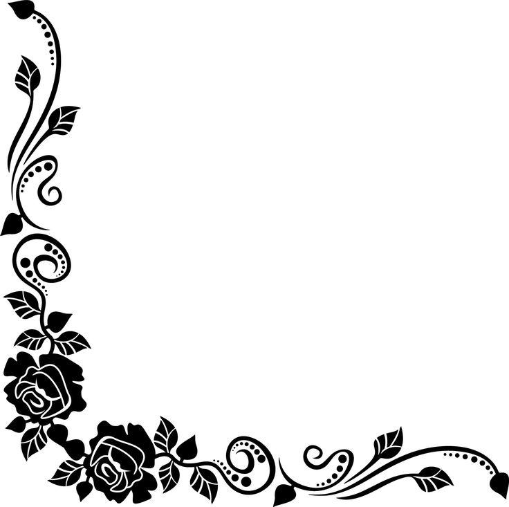 薔薇のイラスト見本-白黒・バラ・葉