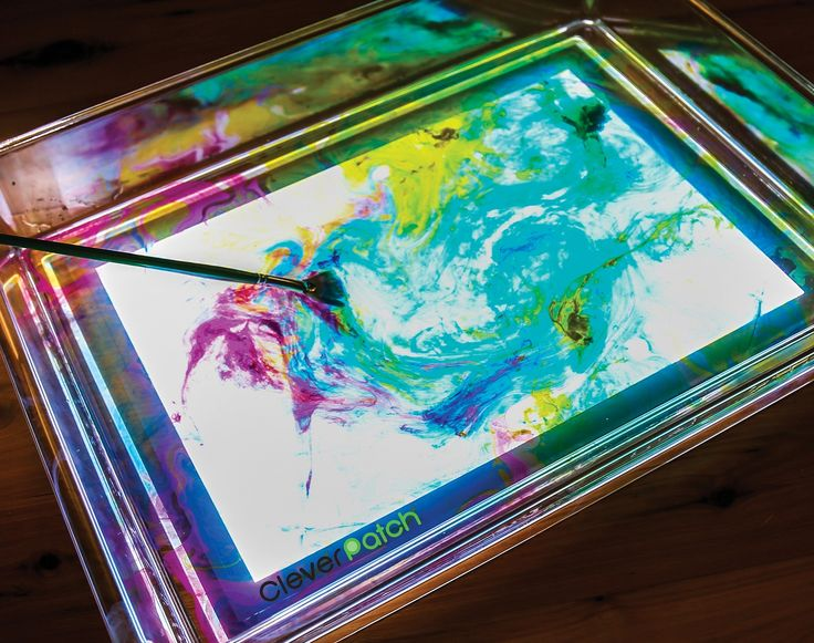Our CleverPatch Exploration Light Tray takes Marbling to the next level!