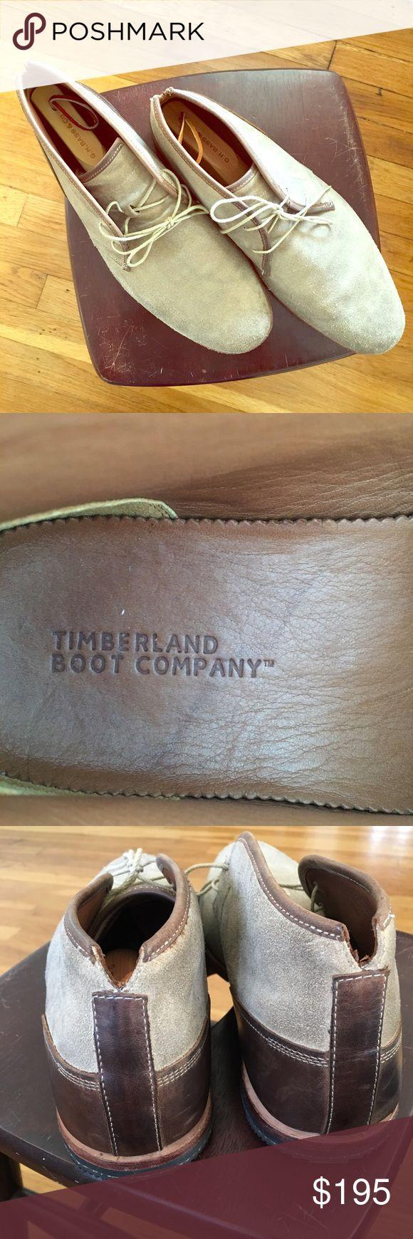 Timberland Wodehouse Lost History Boot 10 Timberland Boot Company Wodehouse Lost History Boot Style#: 4127R Brown Suede Size: 10US / Supple, burnished suede shapes a minimally pieced chukka boot that offers an exceptionally comfortable fit with a roomy toe box, well-cushioned insole and a flexible, lightweight sole. The notched heel is wrapped with sleek leather for on-trend, two-tone styling.Removable insole Leather upper/leather and textile lining/leather and rubber sole *shoe box not…