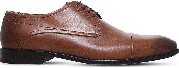 Hugo Boss C-Dresder Leather Derby Shoes, Men's, Size: EUR 41 / 7 UK MEN, Grey