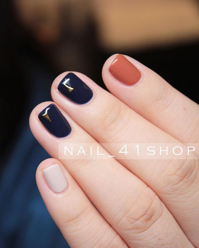 This is my natural nail length.  Love the dark color with the pop of color