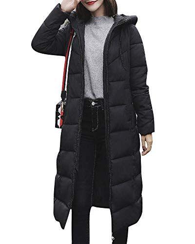 de97183321e41d Damen-Daunenjacke-Lang -Mantel-Daunenmantel-Steppmantel-Wintermantel-Mit-Kapuze-Slim-Fit-Steppjacke -Schwarz-XL-0 | Jacken & Mäntel Damen | Winter jackets, ...