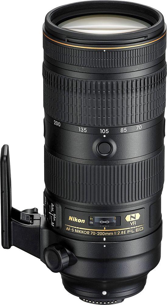 Nikon - AF-S NIKKOR 70-200mm f/2.8E FL ED VR Telephoto Zoom Lens for Nikon Dslr Cameras