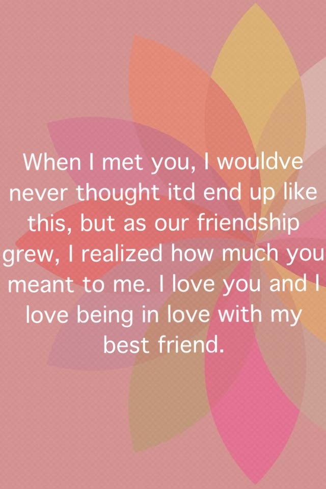 In love with your guy friend