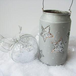 Créer un lampion photophore en recyclant une canette pour Noël