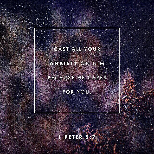 """Give all your cares and worries to God.   God is bigger than all our worries and problems. If we do sin and confess, God forgives & cleanses (Psalm 103:11-12). God wants us to change how we think - to have a mindset like Christ.   """"Give all your worries and cares to God, for he cares about you"""" (1 Peter 5:7).  """"Cast your cares on the LORD and he will sustain you; he will never let the righteous fall"""" (Psalm 55:22)."""
