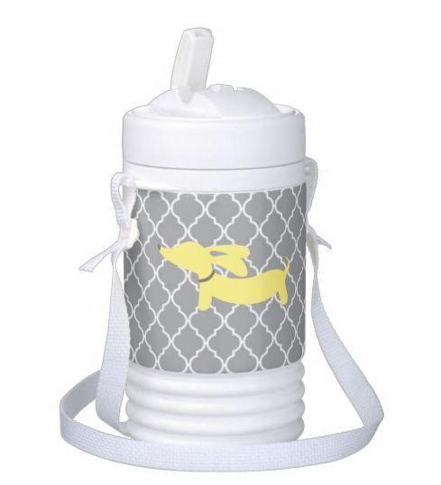 Yellow Wiener Dog Igloo Drink Cooler Jug