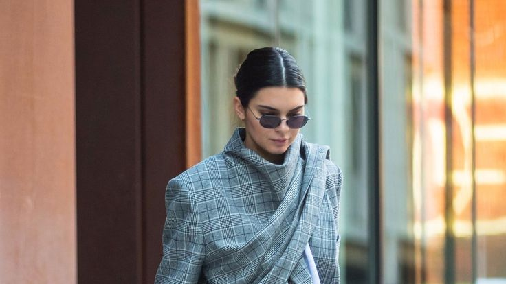 Kendall Jenner takes the new Yeezy Wave Runner 700 sneakers for a test drive.