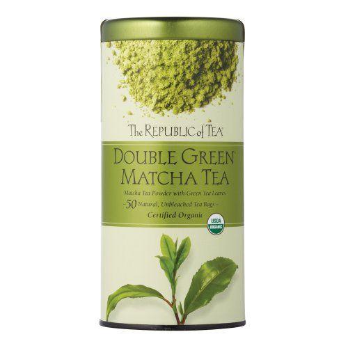 The Republic Of Tea Double Green Matcha, 50 Tea Bags, Gourmet Blend Of Organic Green Tea And Matcha Powder - http://teacoffeestore.com/the-republic-of-tea-double-green-matcha-50-tea-bags-gourmet-blend-of-organic-green-tea-and-matcha-powder/