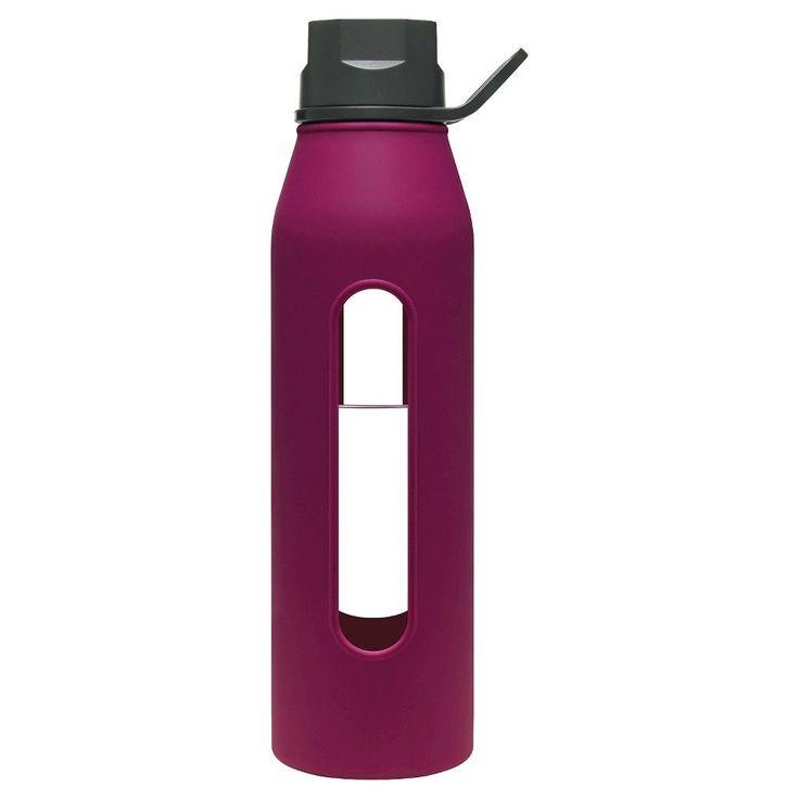 Takeya Classic 22oz Twist Cap Glass Water Bottle - Purple