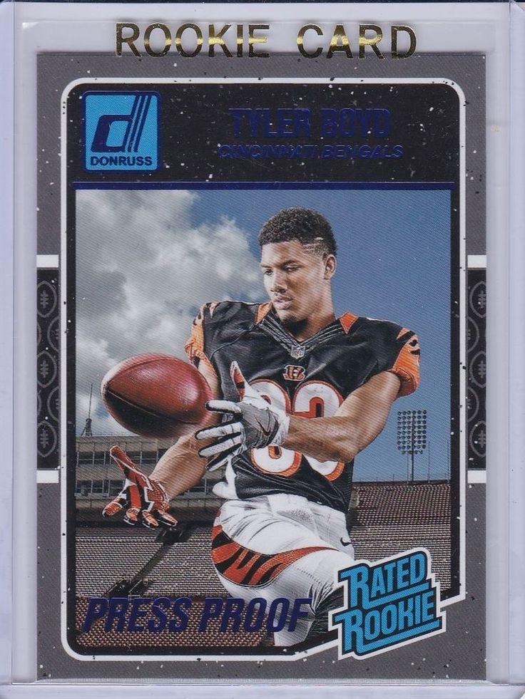 2016 Donruss Rated Rookie Tyler Boyd Cincinnati Bengals NFL Sports card #CincinnatiBengals