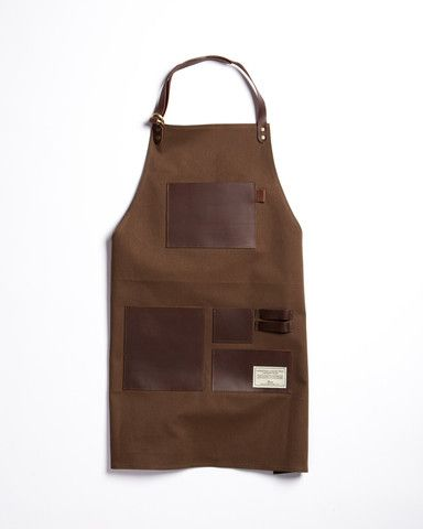 TRVR Waxed Canvas and Leather Gentleman's Apron