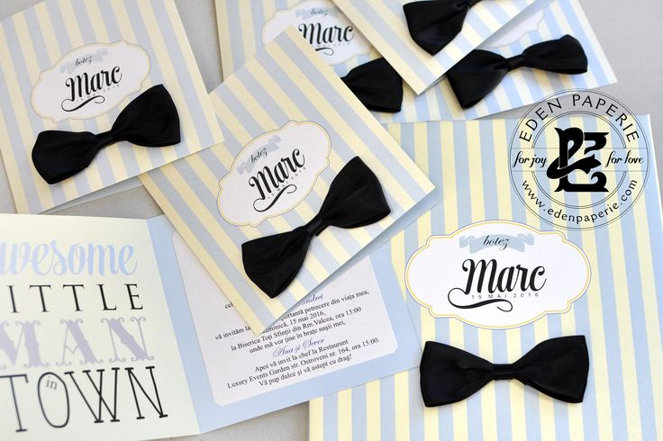 baby shower invitation little gentleman black bow invite