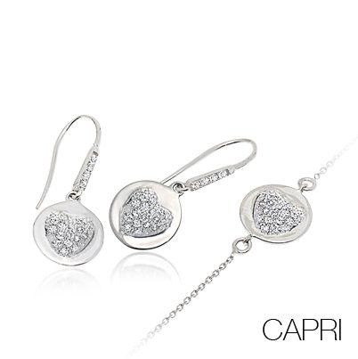 #Bibigi | Collezione #Capri | Bracciale e orecchini in oro bianco e diamanti.