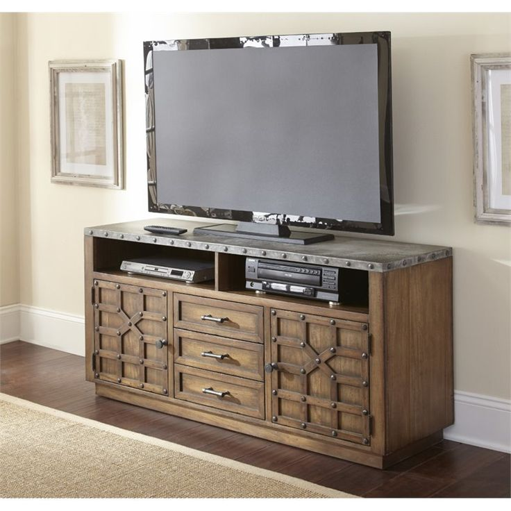 steve silver wayland tv stand in driftwood - wy500tv