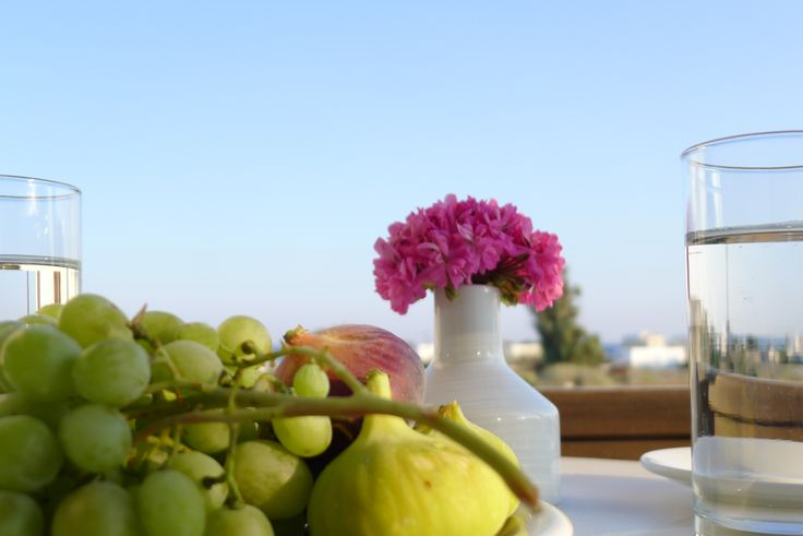 Daily fresh breakfast served by the pool. Low rates and great value!  @ #Nostos #Studios #Santorini
