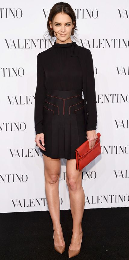 Look of the Day - December 13, 2014 - Katie Holmes in Valentino from #InStyle