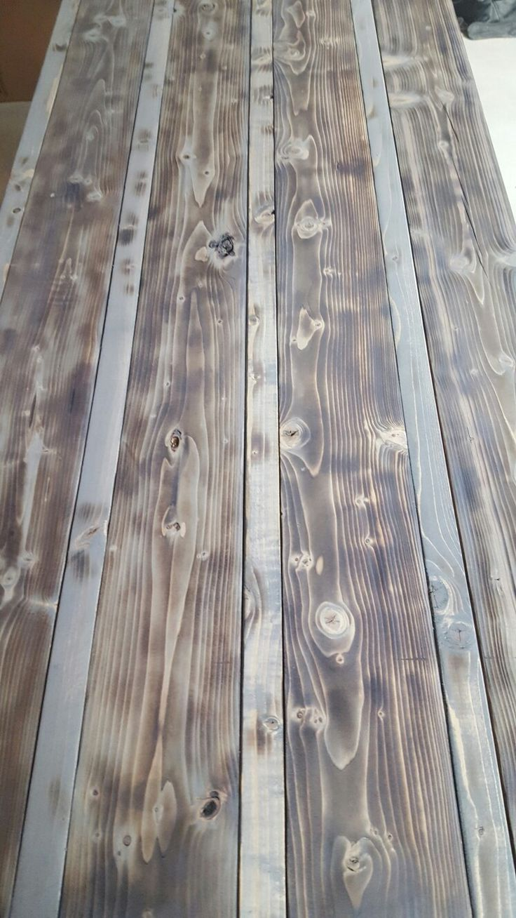 Minwax Classic Gray Stain On Pine Prior To Poly In 2019