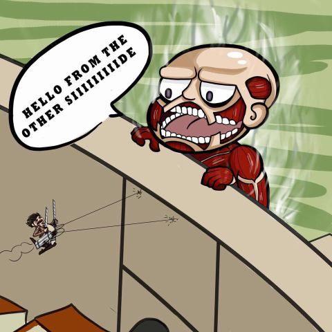 Attack on titan- Humor