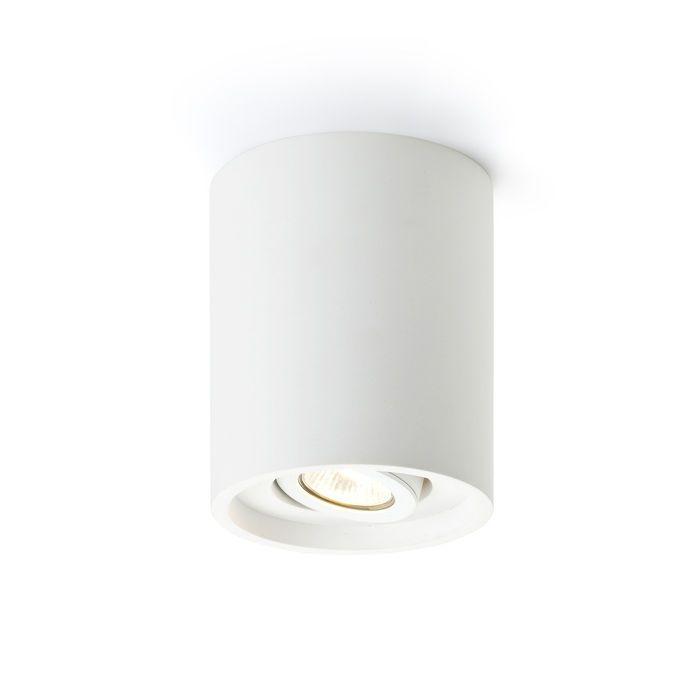 COLES - Stropné svietidlo s možnosťou nakloniť svetelný zdroj v jednej osi. Svietidlo je možné premaľovávať bežnými interiérovými farbami.
