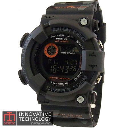 jam tangan digitec DG-2089T loreng army grey