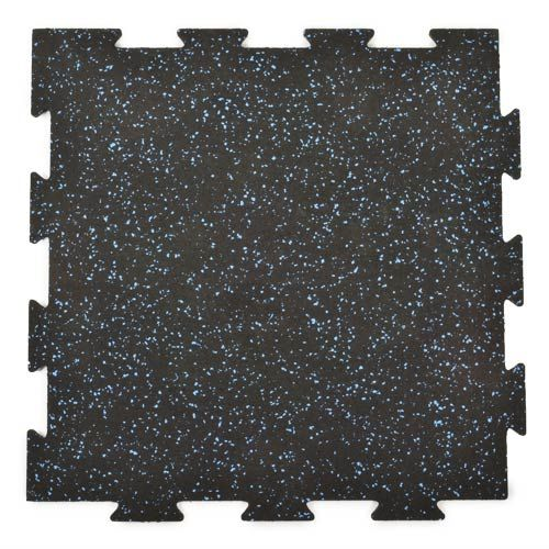 Rubber Tile Interlocking 2x2 Ft x 1/4 Inch 20% Color - Rubber Tile Gym
