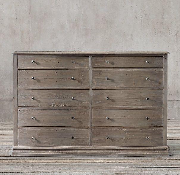 Serpentine Salvaged 10-drawer Large Dresser Decisions.. Decisions.. For master bedrm