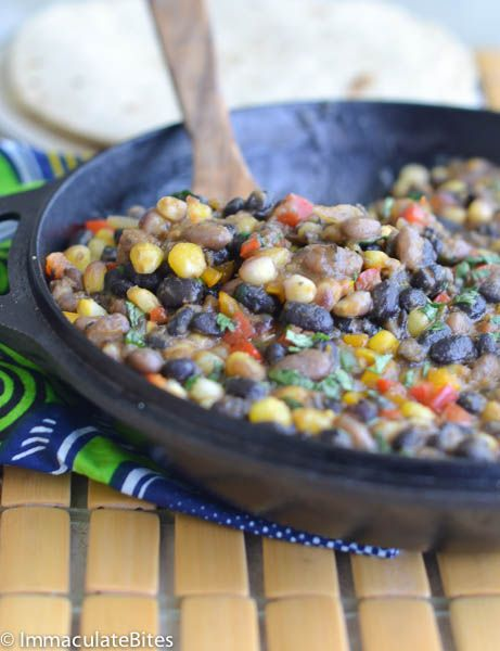 Githeri - A healthy one pot corn and beans meal. Great for weeknight. Vegan.