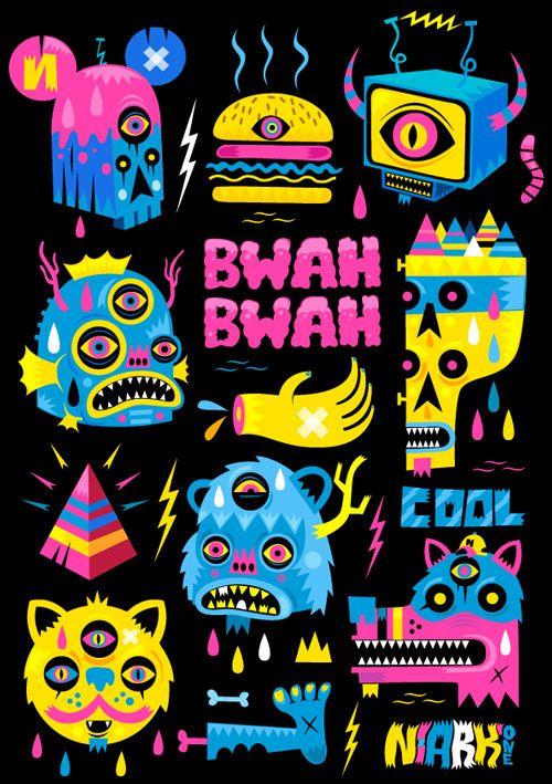 Illustration #9 by Seb NIARK1 FERAUT, via Behance