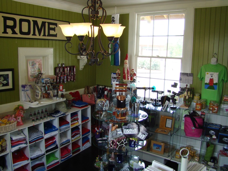 Inside the Last Stop Gift Shop located in Rome, Georgia!