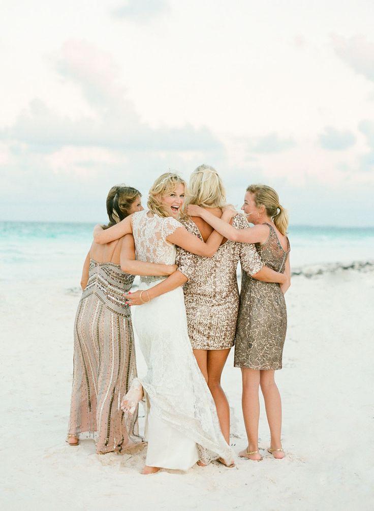 Coral Bahamas Destination Wedding  Metallic Bridesmaid DressesSparkly  Best 25  Destination bridesmaid dresses ideas only on Pinterest  . Destination Wedding Bridesmaids Dresses. Home Design Ideas