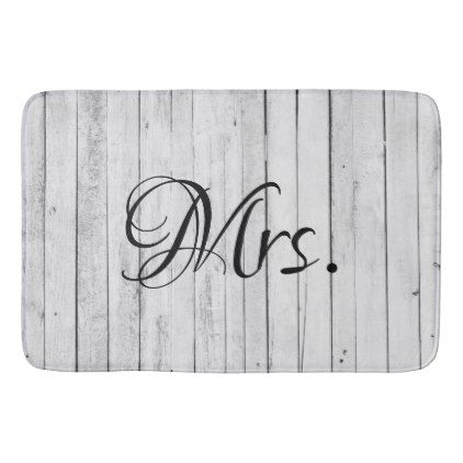 #Wife - His and Hers Mr and Mrs Bride Groom Rustic Bath Mat - #GroomGifts #Groom #Gifts Groom Gifts #Wedding #Groomideas