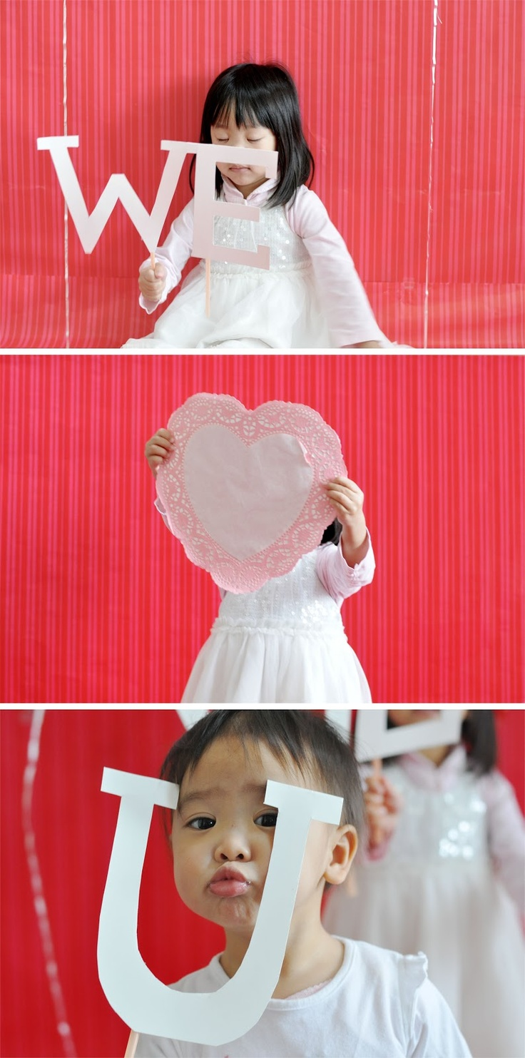 camo meets couture: diy photo booth with wrapping paper backdrop   Valentines Day GreetingsIdeas ...
