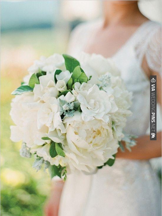 gardenia wedding bouquet   VIA #WEDDINGPINS.NET