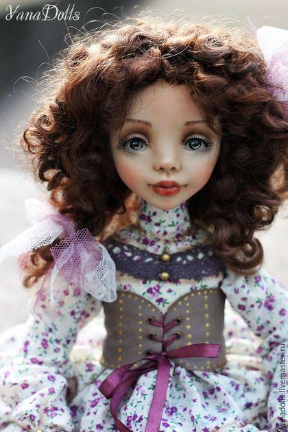 Коллекционные куклы ручной работы. Ярмарка Мастеров - ручная работа. Купить Дэйзи. Handmade. Сиреневый, авторская работа