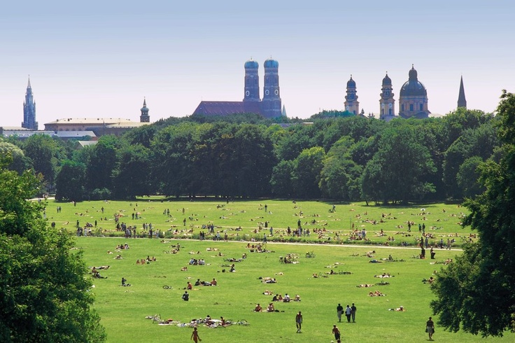 "The ""skyline"" of Munich - on this picture looking like a village"
