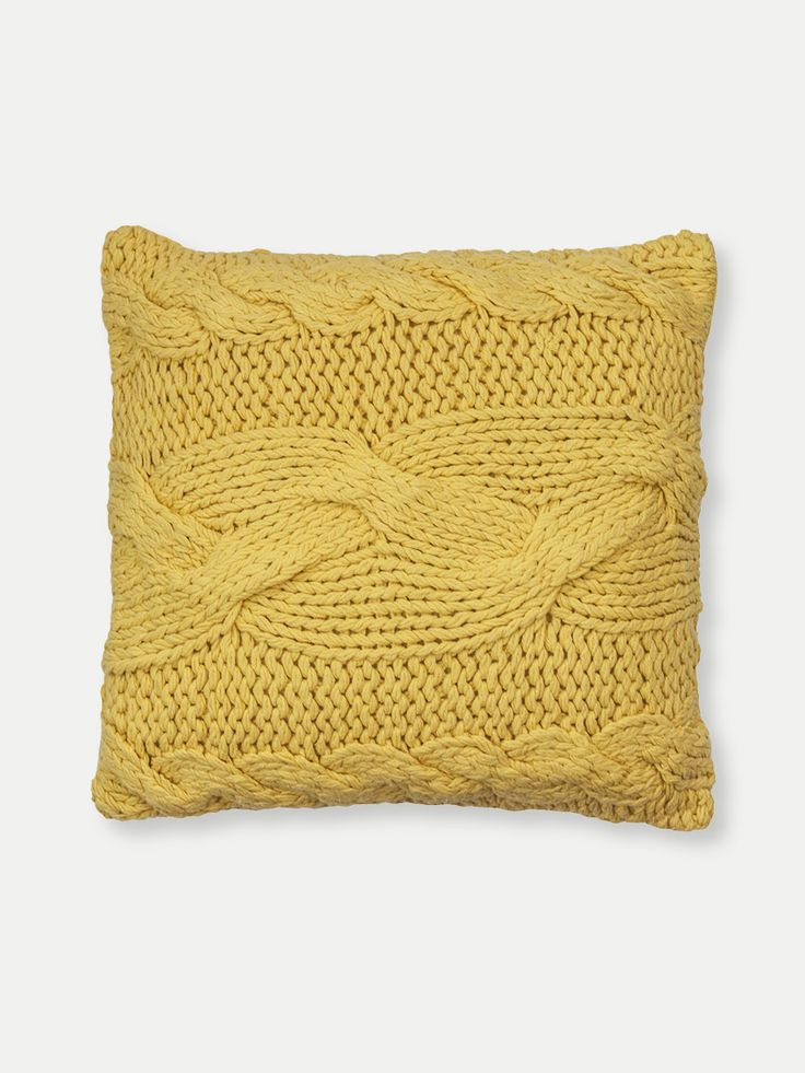 Almofada Crochet Milla Amarela