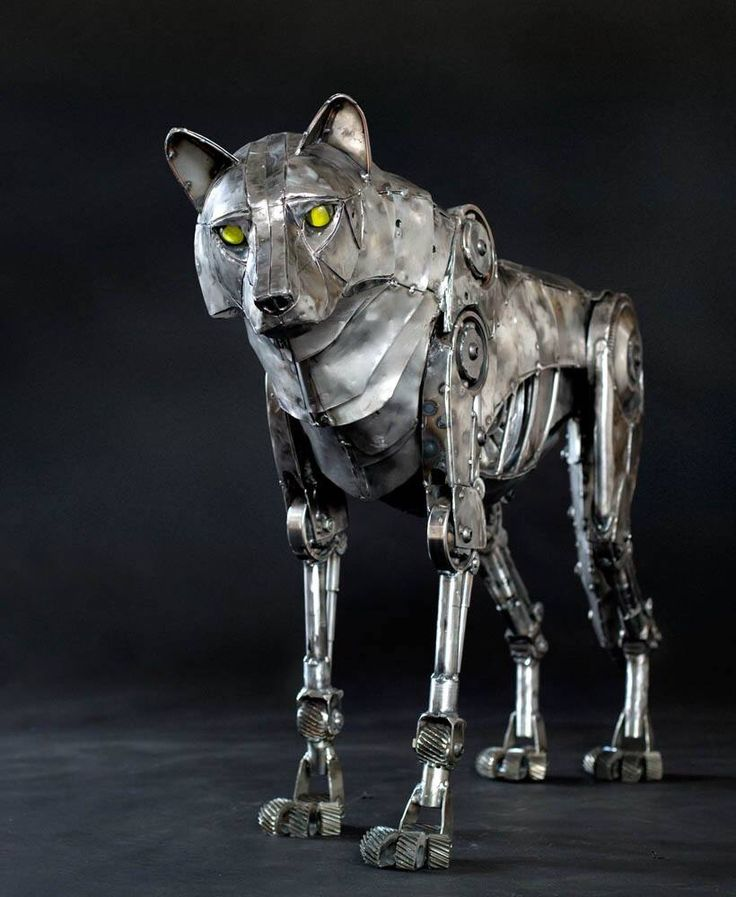 Beautiful steampunk wolf
