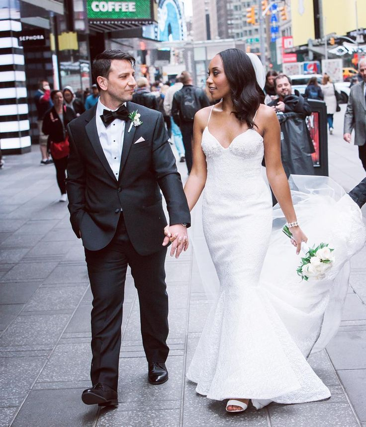 Gorgeous interracial couple wedding photography in New York #love #wmbw #bwwm #swirl