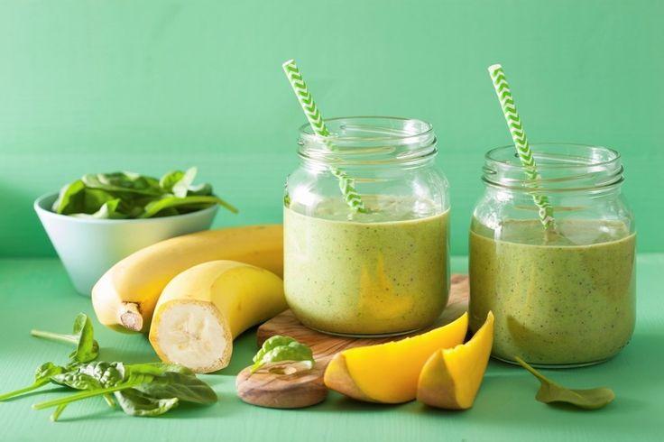 Estratto di mango, spinaci e banane