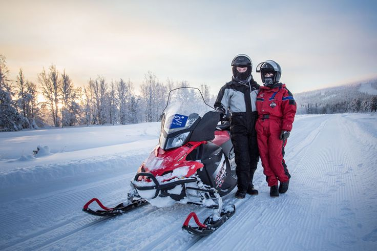 Get around the winter snow quickly in a snowmobile - Visiting Finland in Winter: Top 15 Winter Activities in Finland